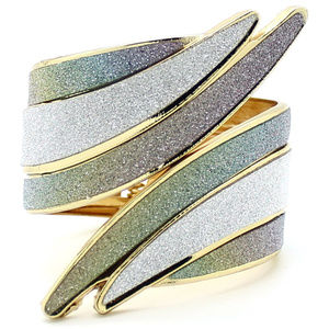 Eye Candy LA - Twisted Wing Sparkle Cuff Bracelet